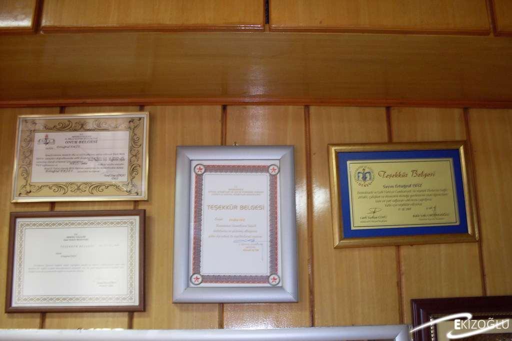 Ekizoğlu onur ve teşekkür belgelerimiz