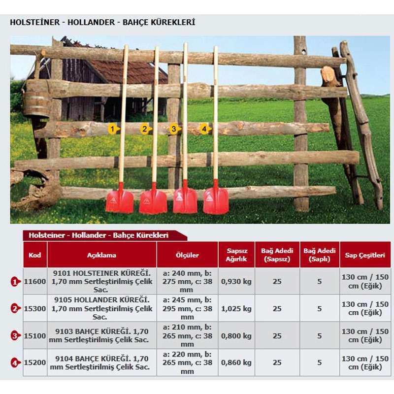 Holsteiner - Hollander - Bahçe Kürekleri