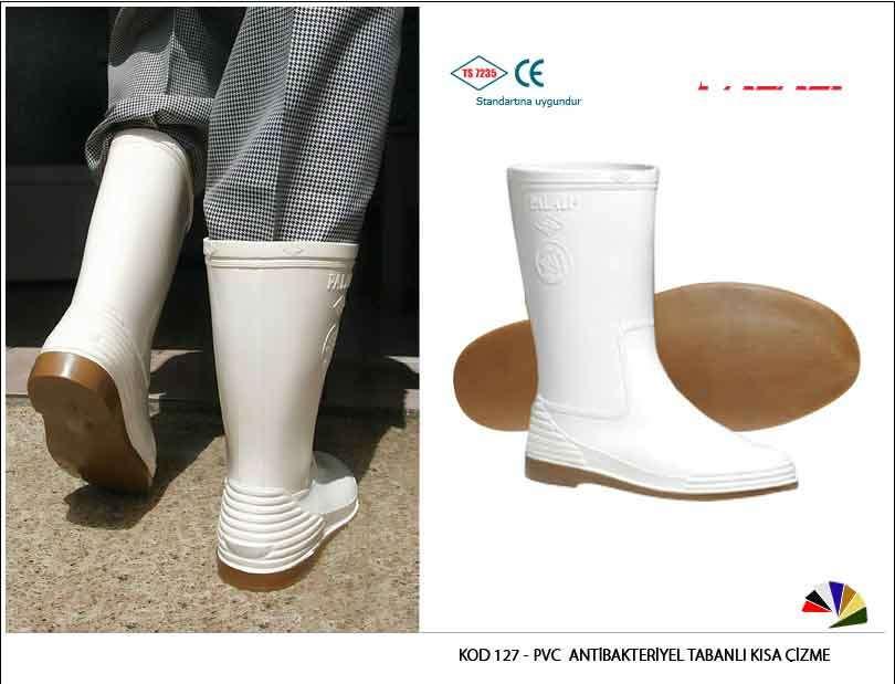 Pvc Antibakteriyel Tabanlı Kısa Çizme