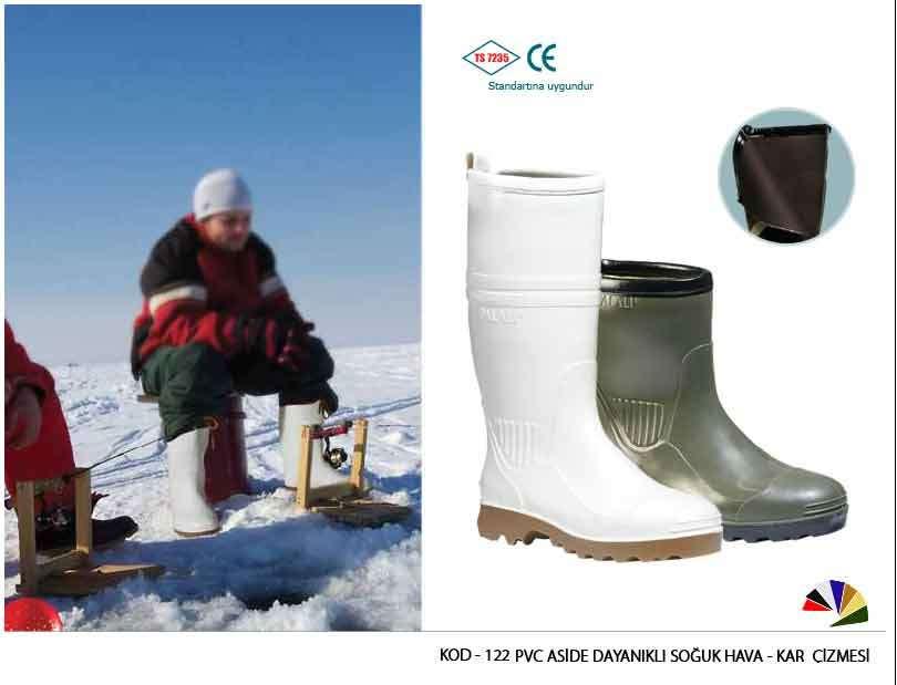 Pvc Aside Dayanıklı Soğuk Hava ve Kar Çizme